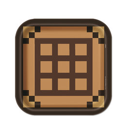 UNIQUE INDUSTRIES INC Minecraft Square 9in Lunch Plates - 8ct