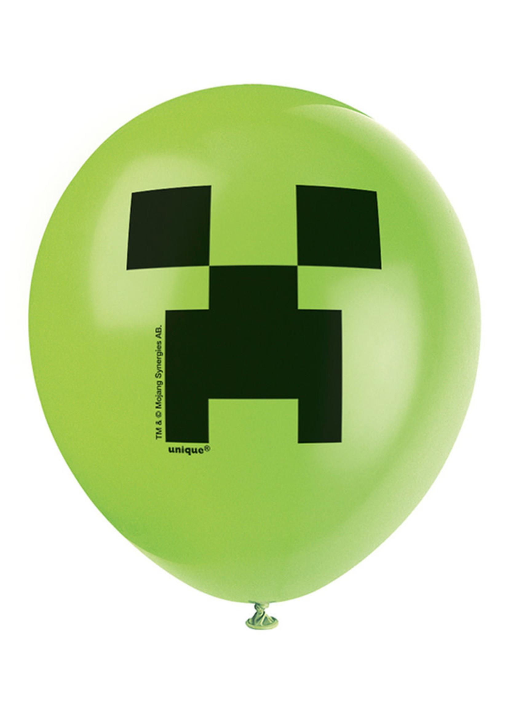 UNIQUE INDUSTRIES INC Minecraft Latex Balloons - 8ct