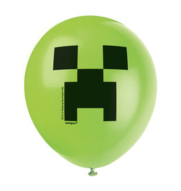 UNIQUE INDUSTRIES INC Minecraft Latex Balloons - 8ct