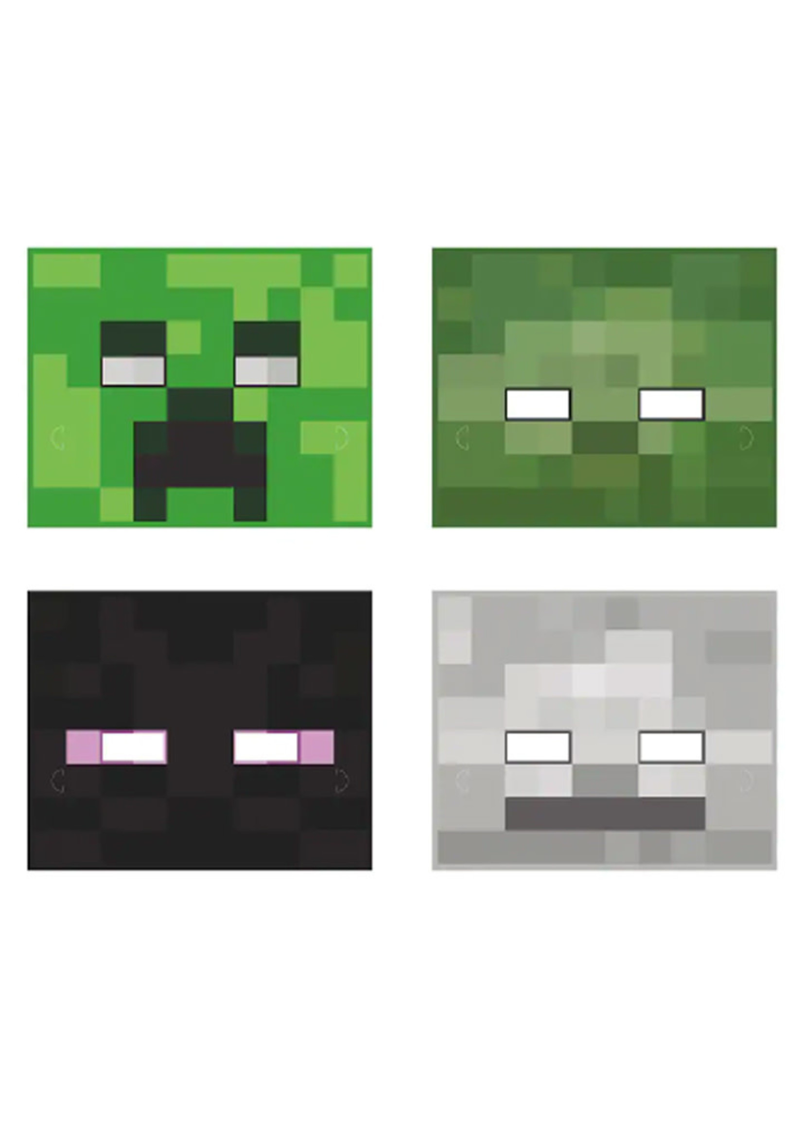 UNIQUE INDUSTRIES INC Minecraft Party Masks - 8ct