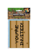 UNIQUE INDUSTRIES INC Minecraft Invitations - 8ct