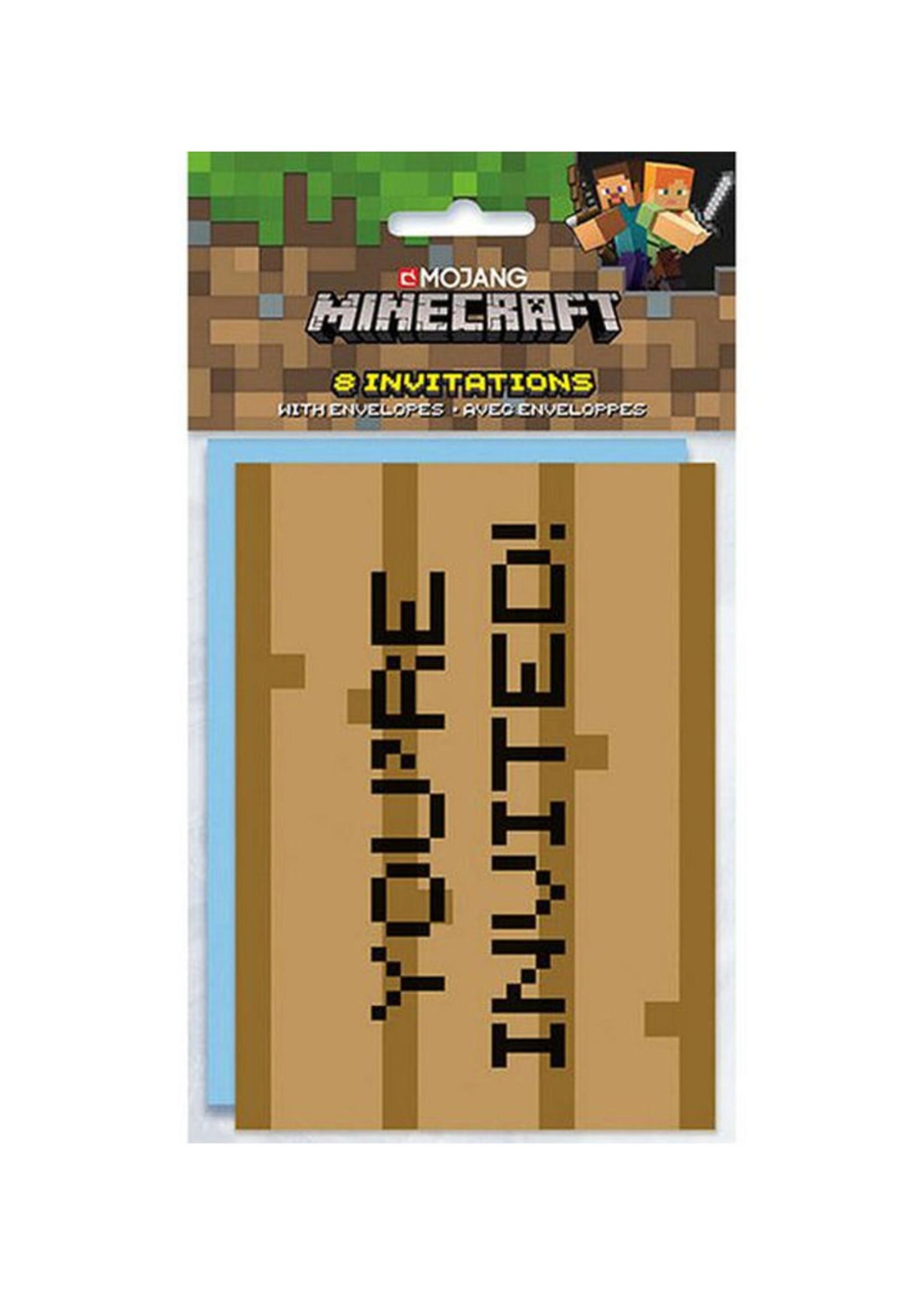 UNIQUE INDUSTRIES INC Minecraft Invitations - 8ct