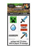 UNIQUE INDUSTRIES INC Minecraft Tattoos - 24ct