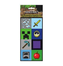 UNIQUE INDUSTRIES INC Minecraft Lenticular Stickers - 16ct