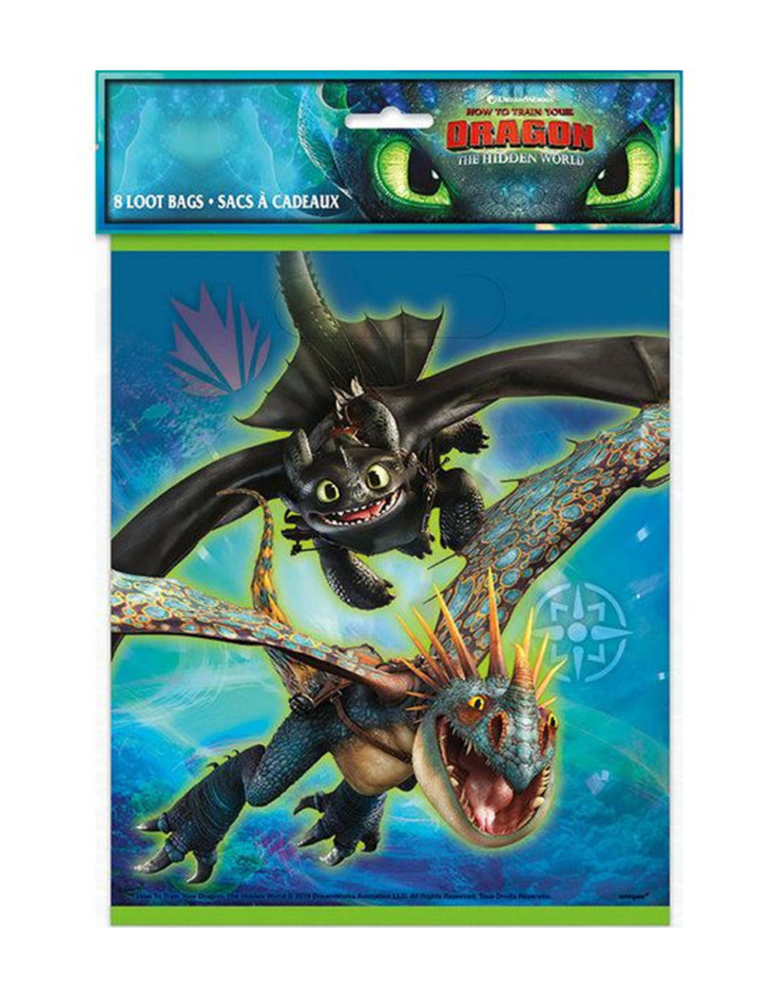 UNIQUE INDUSTRIES INC How to Train Your Dragon Loot Bags - 8ct