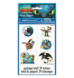 UNIQUE INDUSTRIES INC How to Train Your Dragon Temp Tattoos - 24ct