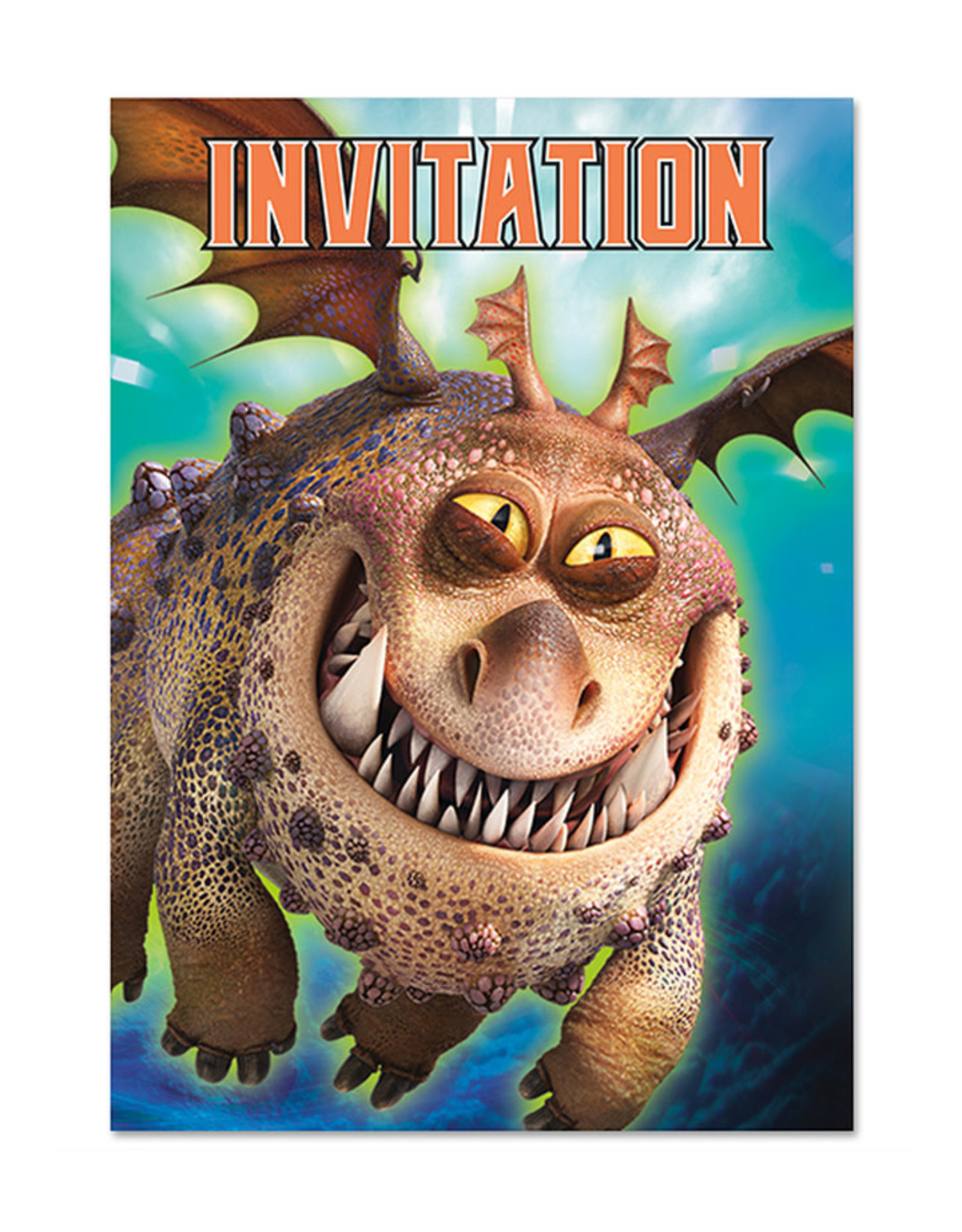 UNIQUE INDUSTRIES INC How to Train Your Dragon Invitations - 8ct
