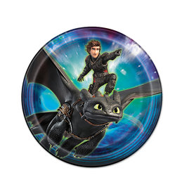 UNIQUE INDUSTRIES INC How to Train Your Dragon Luncheon Plates - 8ct