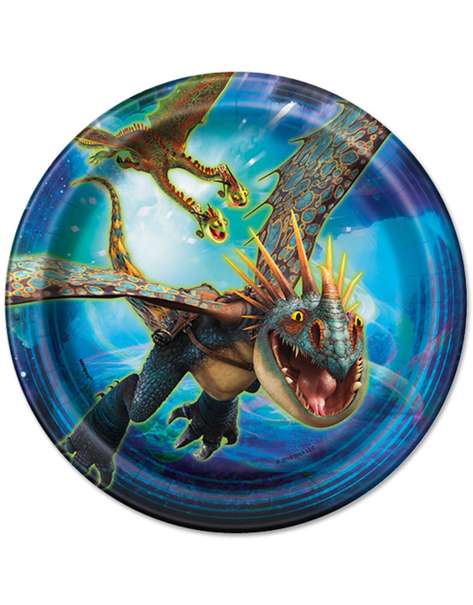 UNIQUE INDUSTRIES INC How to Train Your Dragon Dessert Plates - 8ct