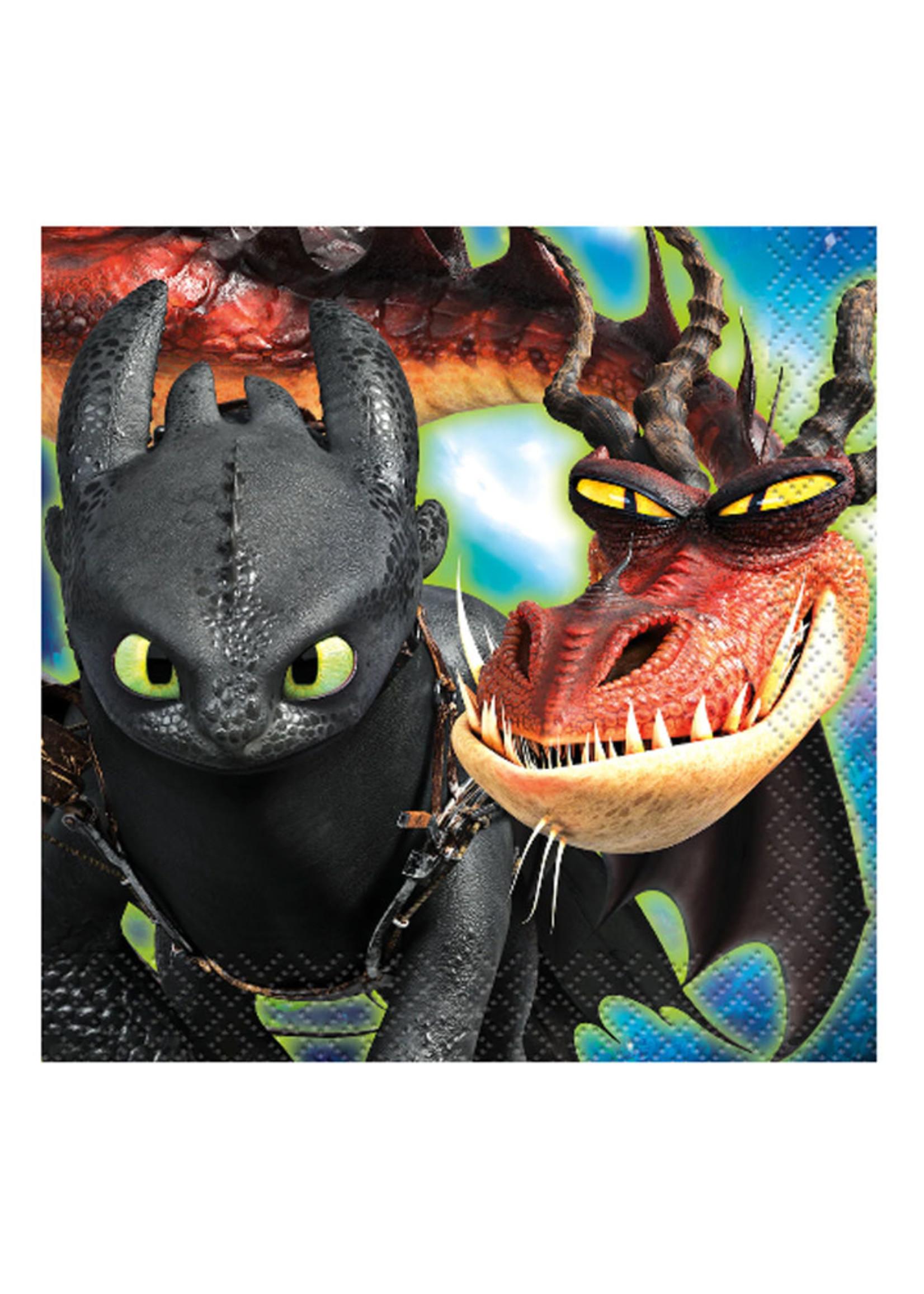 UNIQUE INDUSTRIES INC How to Train Your Dragon Beverage Napkins - 16ct