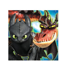 UNIQUE INDUSTRIES INC How to Train Your Dragon Beverage Napkins - 16ct