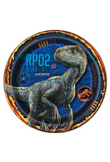 "UNIQUE INDUSTRIES INC Jurassic World: Fallen Kingdom 7"" Dessert Plate - 8ct"