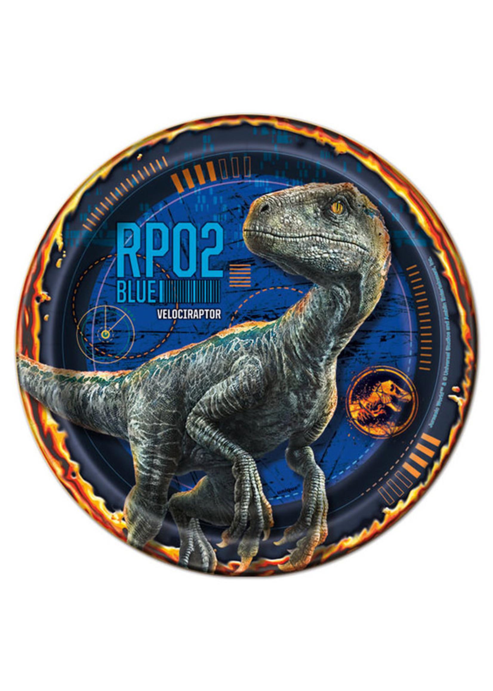 "UNIQUE INDUSTRIES INC Jurassic World: Fallen Kingdom 7"" Dessert Plate - 8ct"