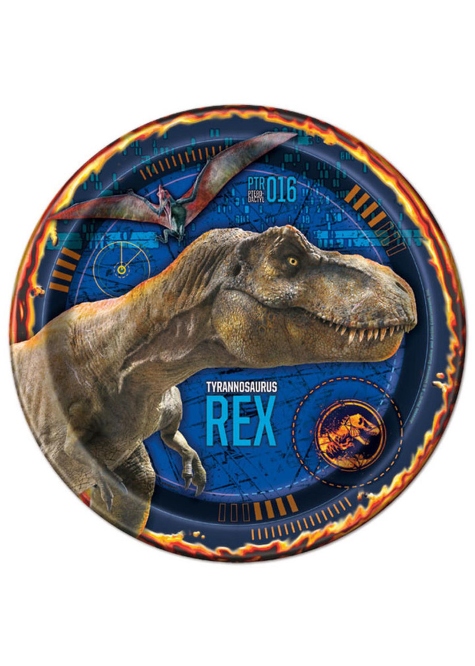 "UNIQUE INDUSTRIES INC Jurassic World: Fallen Kingdom 9"" Luncheon Plates - 8ct"