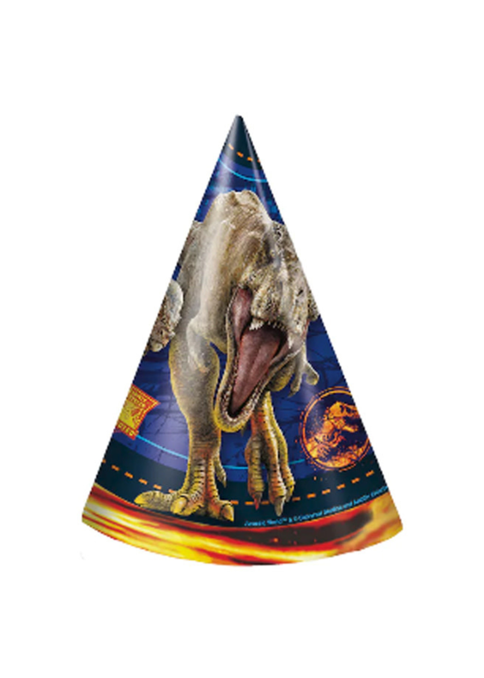 UNIQUE INDUSTRIES INC Jurassic World: Fallen Kingdom Party Hats - 8ct