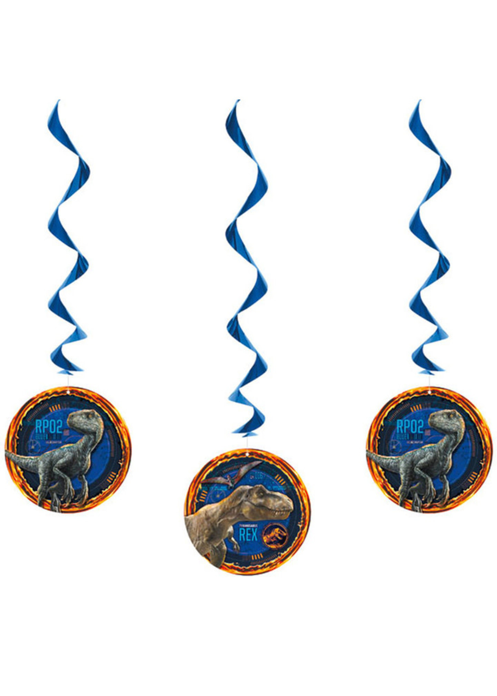 UNIQUE INDUSTRIES INC Jurassic World: Fallen Kingdom Hanging Decorations - 3ct