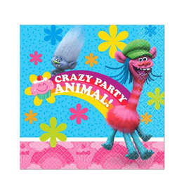 Trolls Beverage Napkins - 16ct