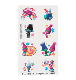 Trolls Temporary Tattoos  - 8ct