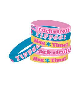 Trolls Rubber Bracelets - 6ct