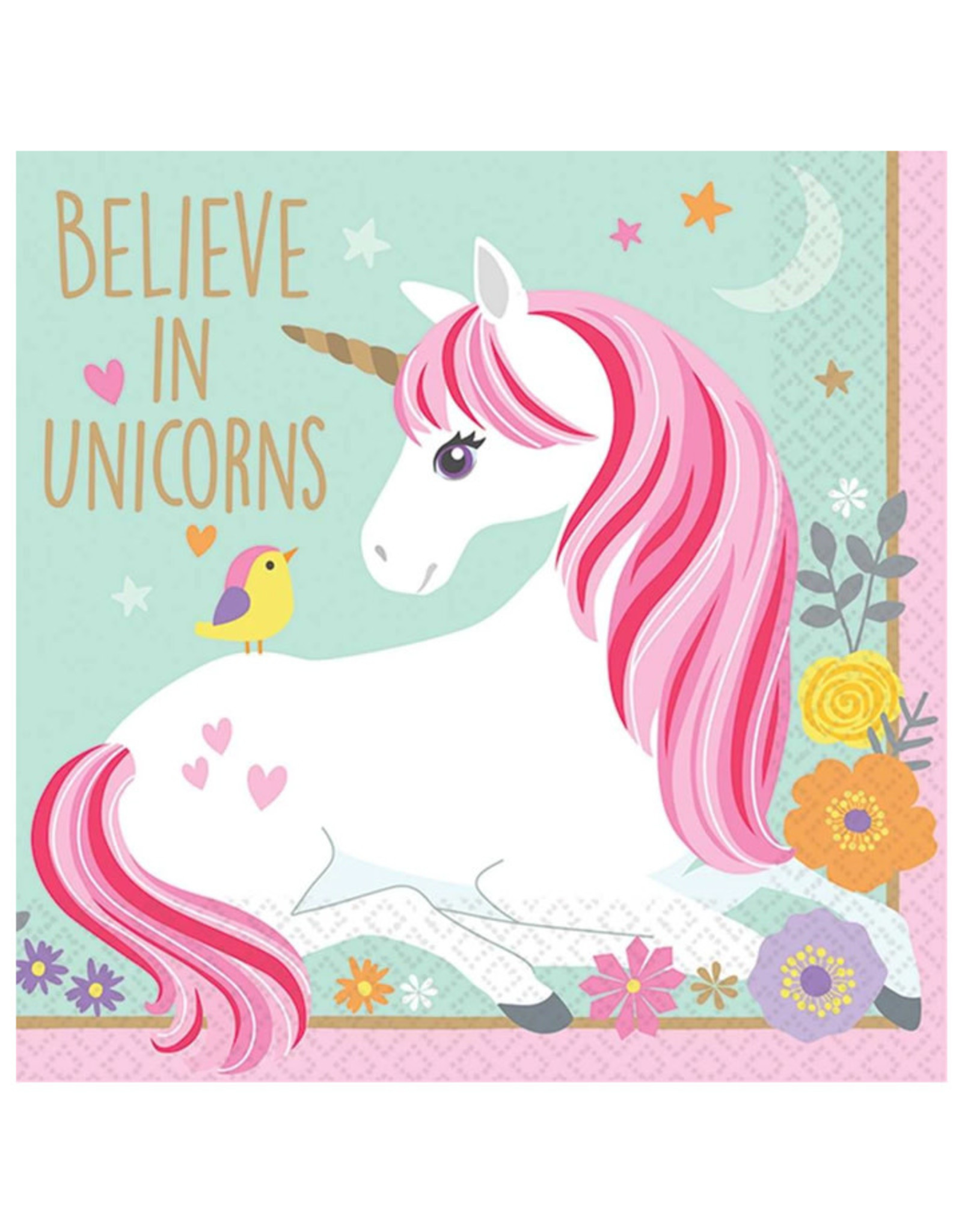 Magical Unicorn Beverage Napkins - 16ct