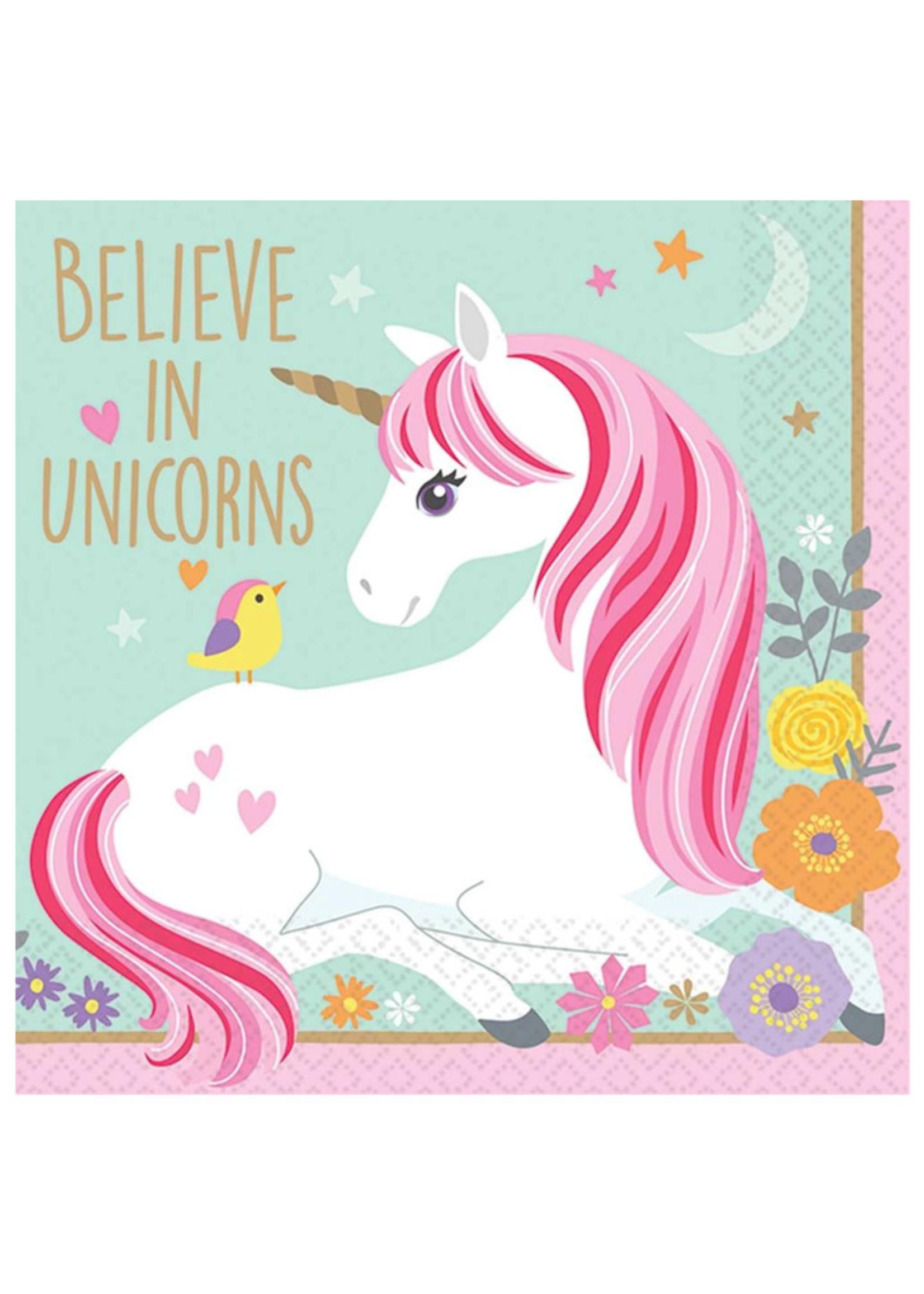 Magical Unicorn Beverage Napkins - 16ct