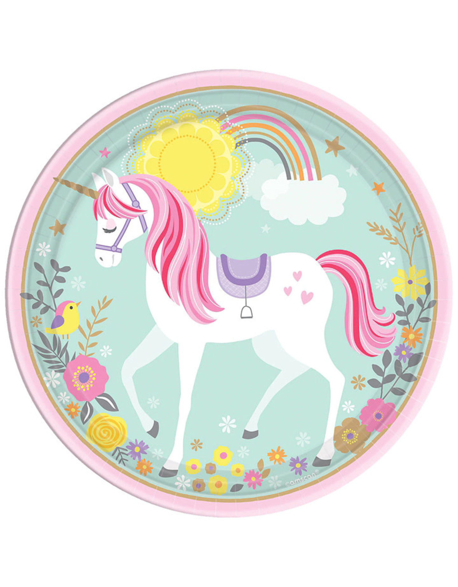 """Magical Unicorn 9"""" Lunch Plates - 8ct"""