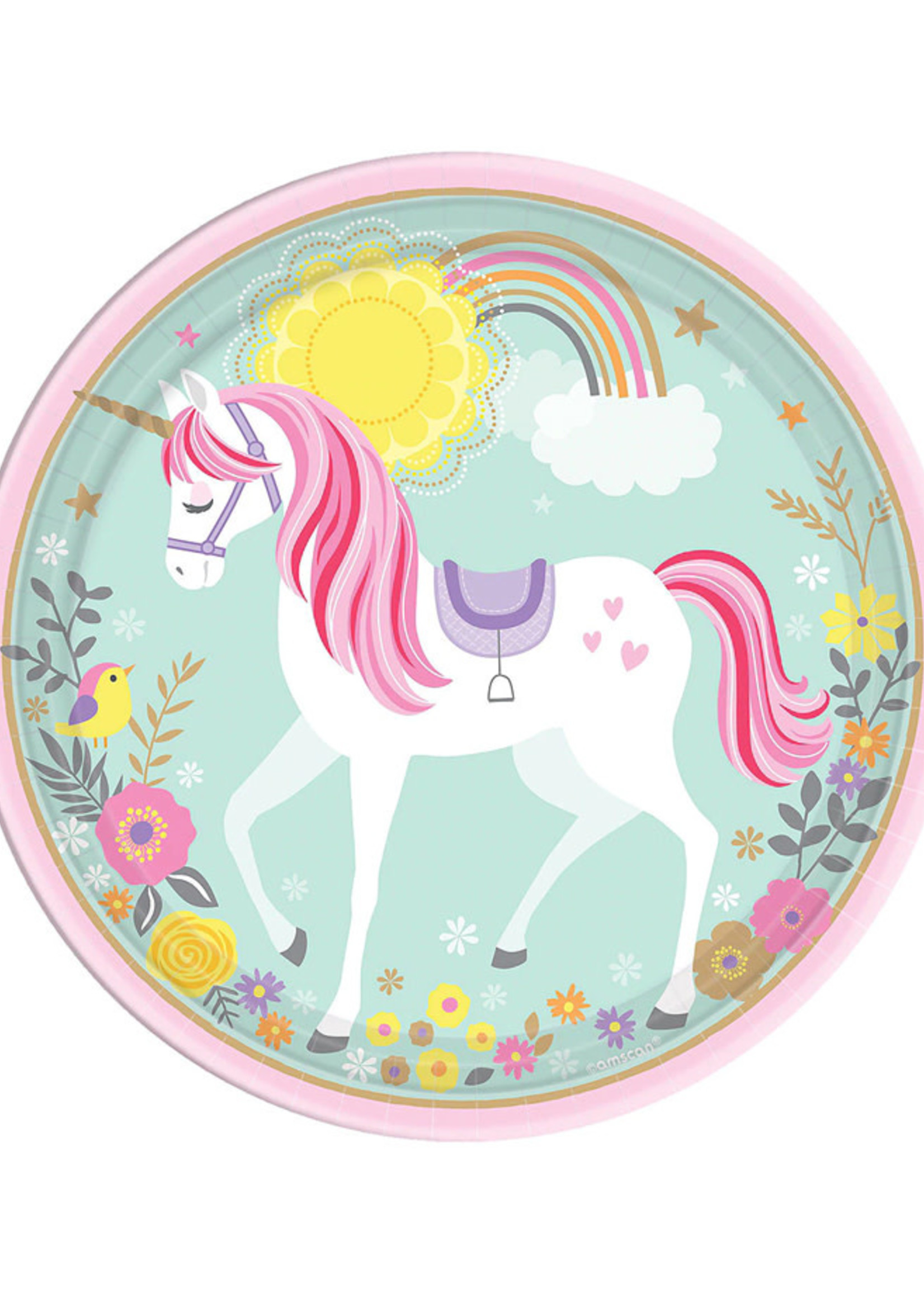 "Magical Unicorn 9"" Lunch Plates - 8ct"