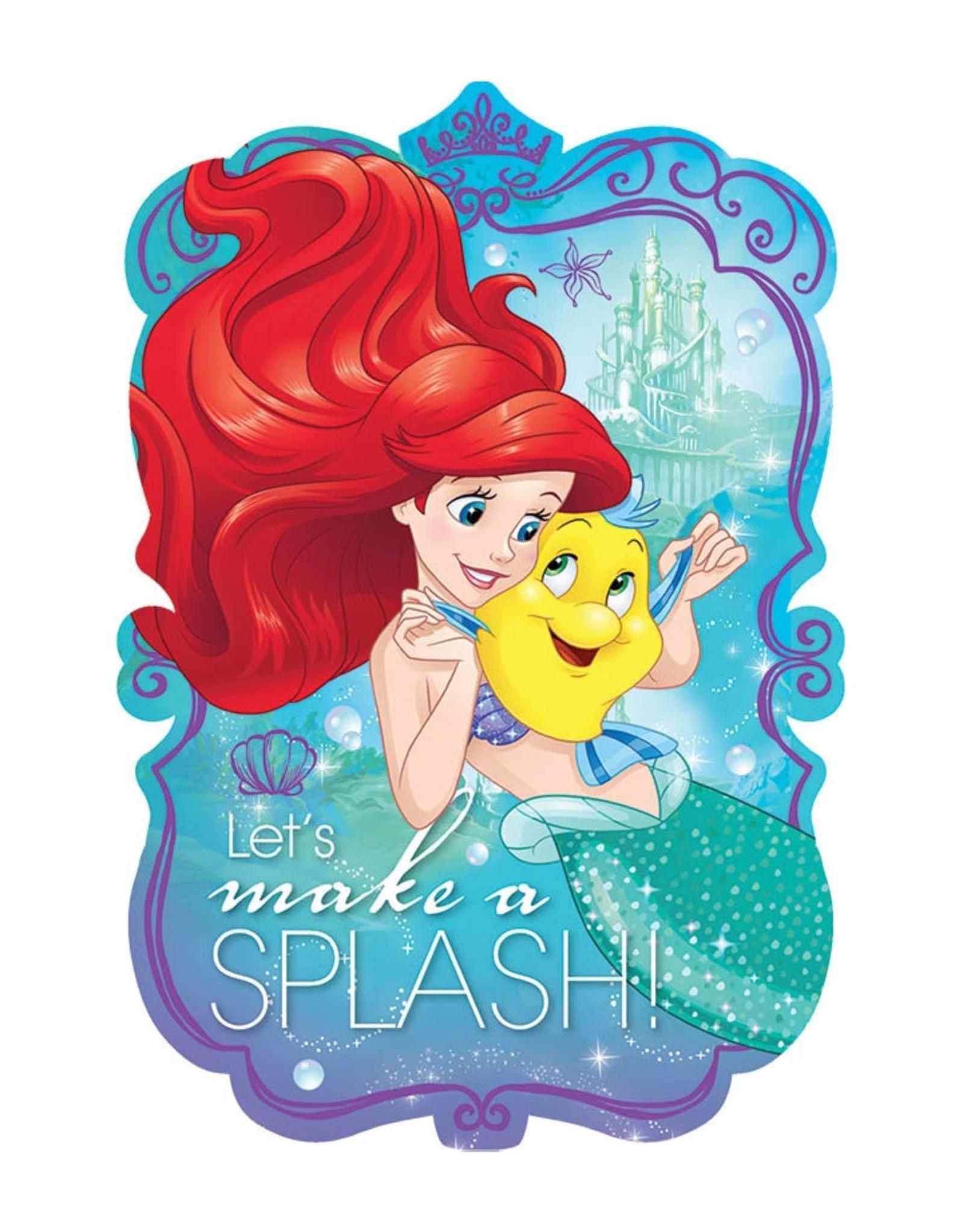 Disney Ariel Dream Big Invitations - 8ct