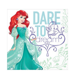 Disney Ariel Dream Big Luncheon Napkins - 16ct