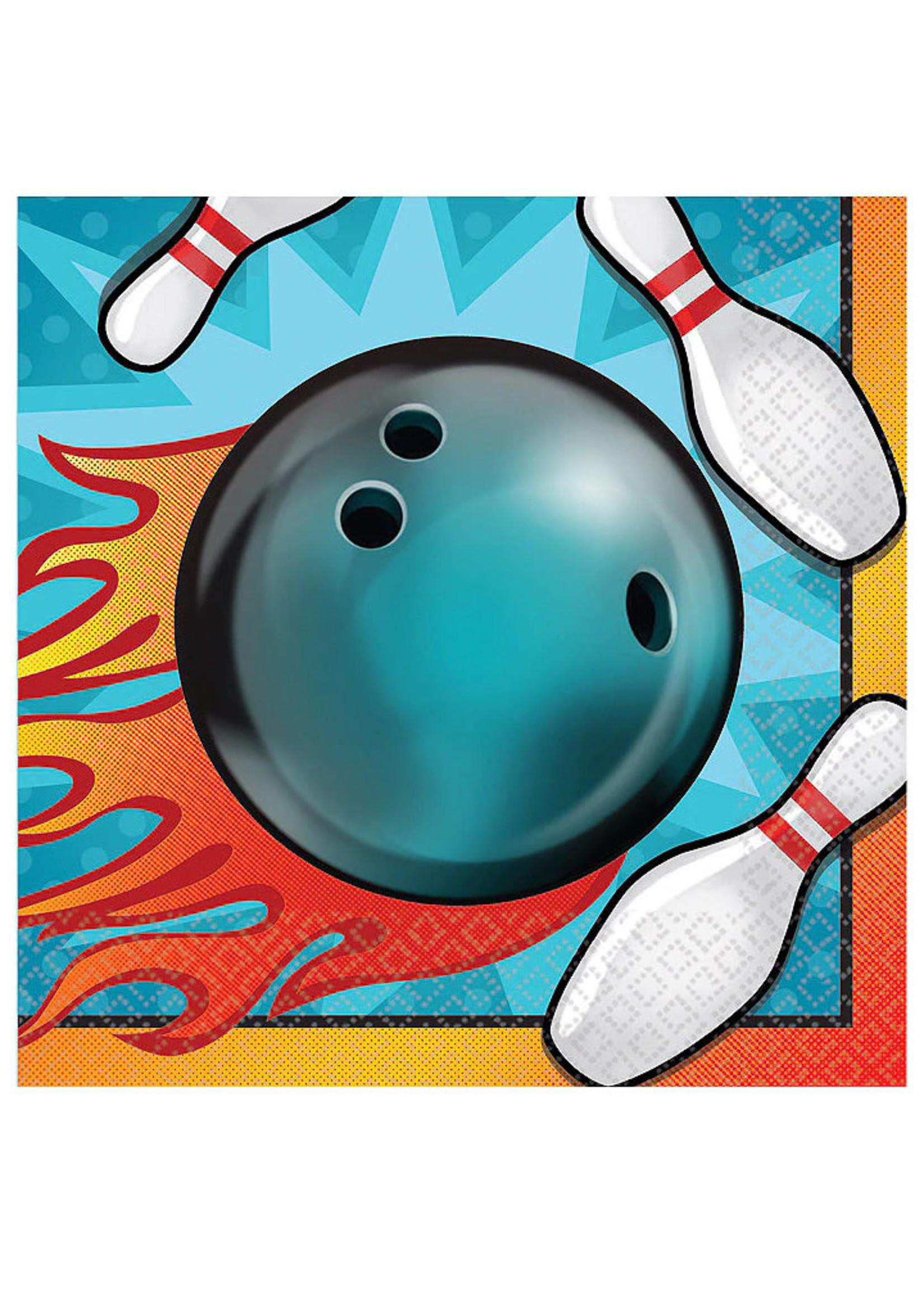 Bowling Beverage Napkins - 16ct