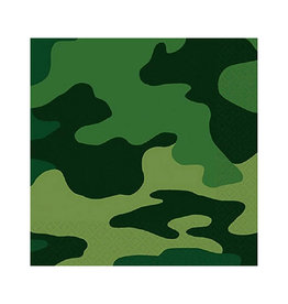 Camouflage Beverage Napkins - 16ct