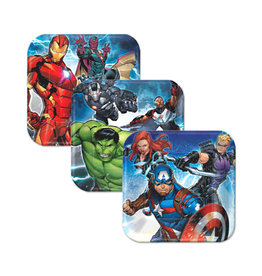 "Marvel Epic Avengers 7"" Square Plates - 8ct"