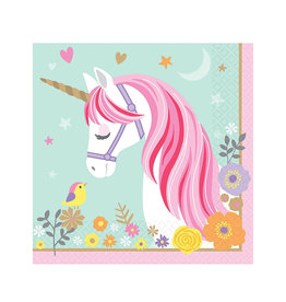 Magical Unicorn Lunch Napkins - 16ct