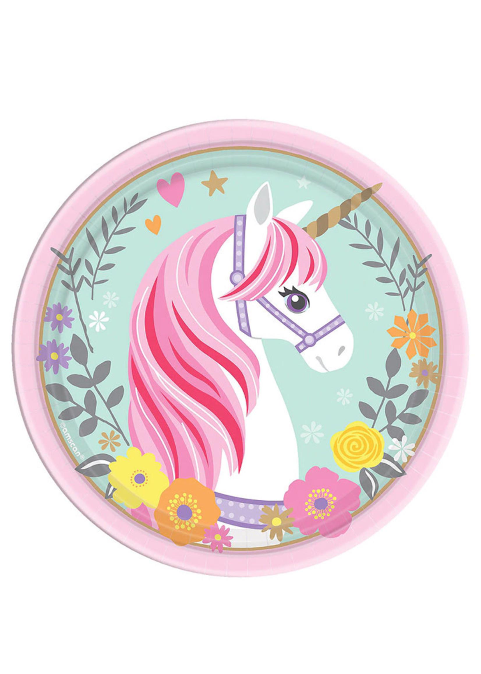 Magical Unicorn Dessert Plates -  8ct