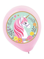 "Magical Unicorn 12"" Latex Balloons - 5ct"