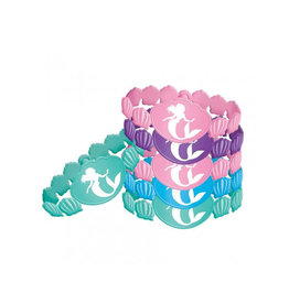 Disney Ariel Dream Big Rubber Bracelet Favors - 4ct