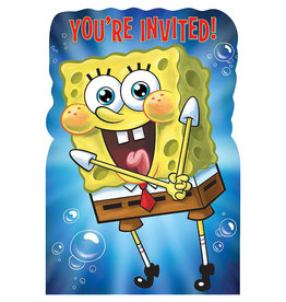 SpongeBob Party Invitations - 8ct