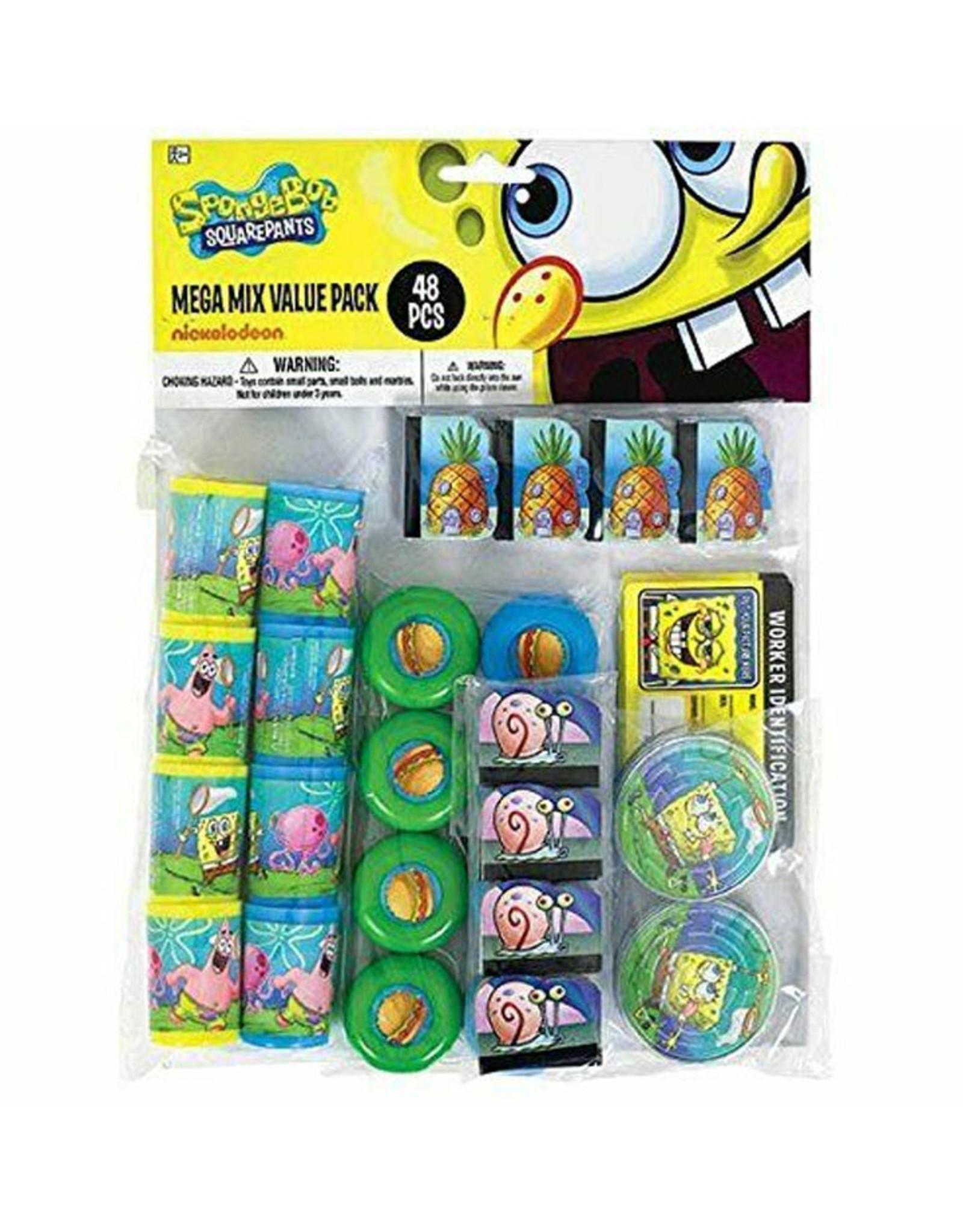 Spongebob Mega Mix Party Favor Pack - 48ct