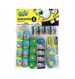 Spongebob Mega Mix Party Favor Pack - 48ct