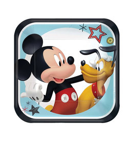 Mickey On The Go Paper Dessert Plates - 8ct