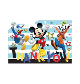 Mickey On The Go Thank You Notes - 8ct