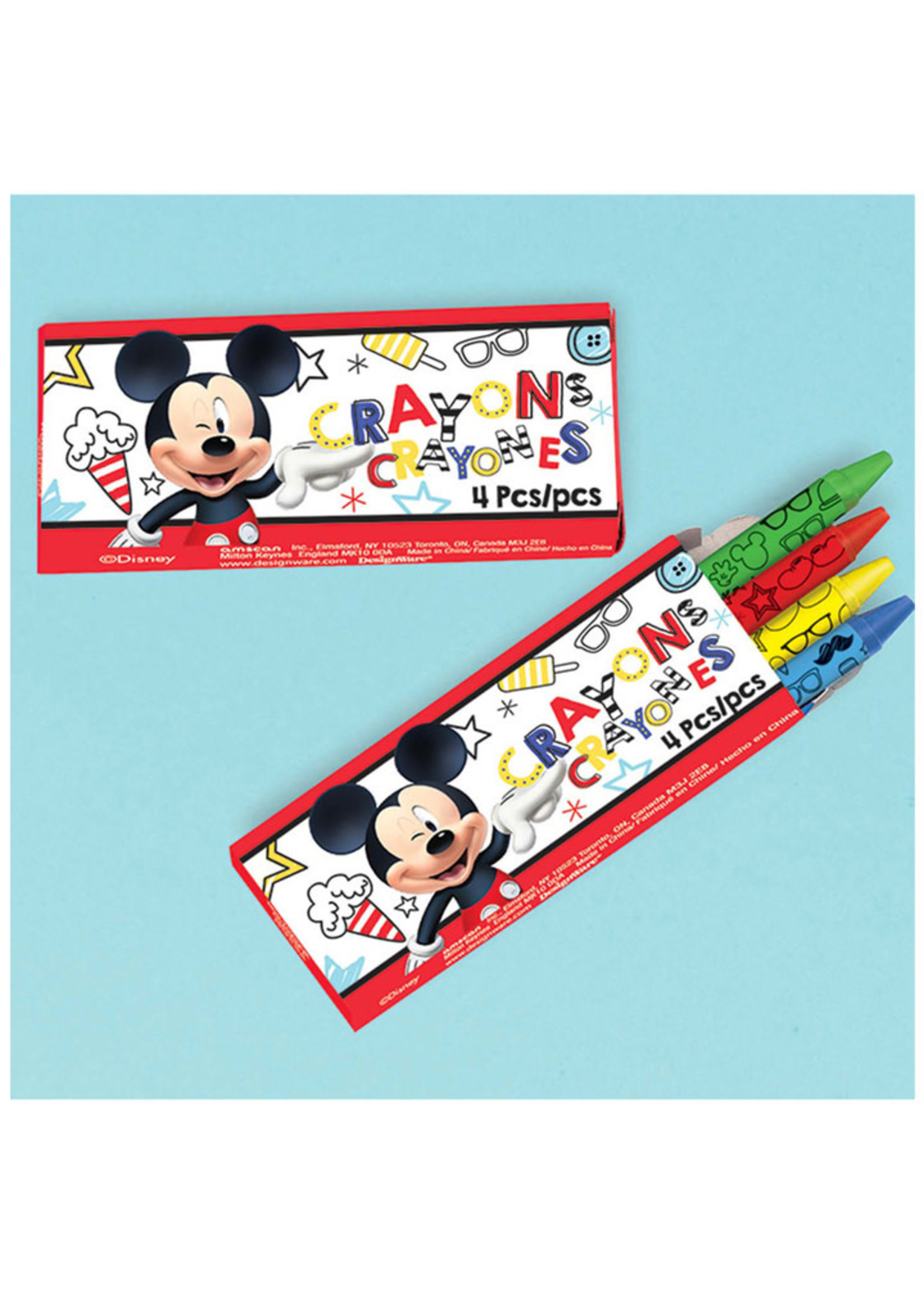 Mickey On The Go Crayons - 12ct