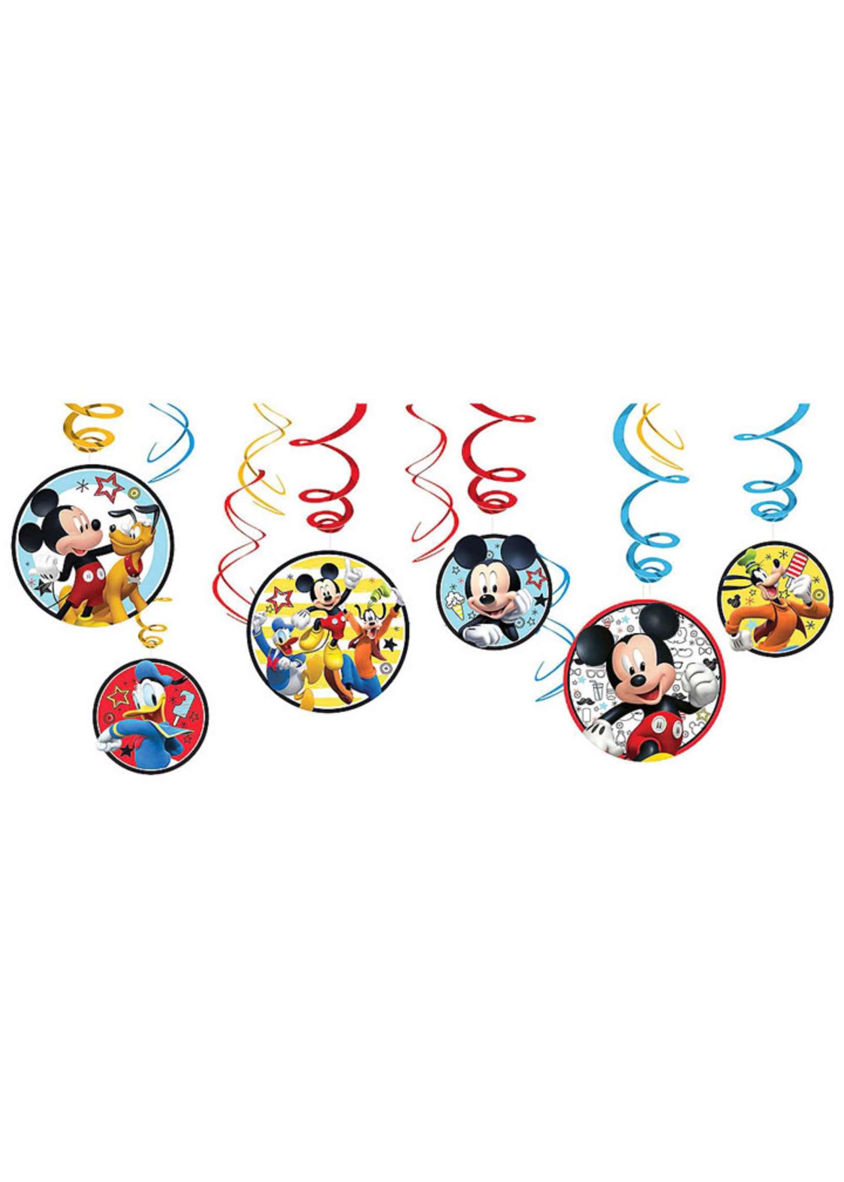 Mickey On the Go Swirl Decorations - 12ct
