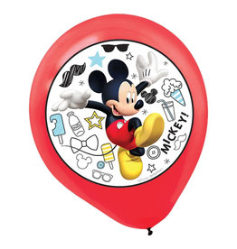 "Mickey On The Go 12"" Latex Balloons - 5ct"