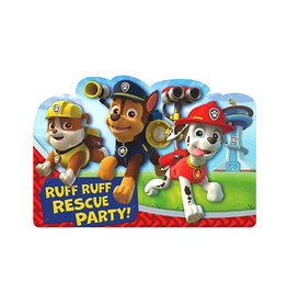 Paw Patrol Postcard Invitations - 8ct