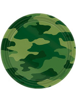 "Camouflage 7"" Round Plates - 8ct"