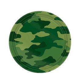 "Camouflage 7"" Round Plates - 8ct"