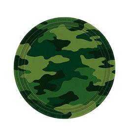 "Camouflage 9"" Round Plates - 8ct"