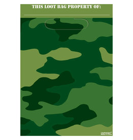 Camouflage Loot Bag - 8ct