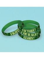 Camouflage Rubber Bracelets - 6ct